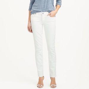 J. Crew matchstick straight leg white jeans